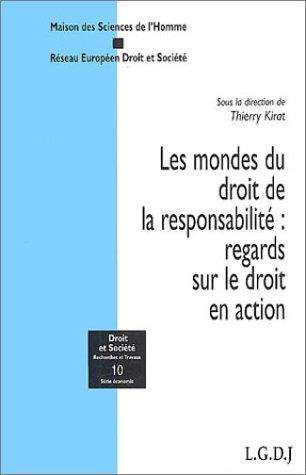 Les mondes du droit de la responsabilité : regards sur le droit en action