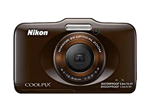 Nikon COOLPIX S31 10.1 MP Waterproof Digital Camera with 720p HD Video (Brown)