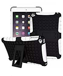 ProElite Heavy Duty Armor Dual Layer Shockproof Back Cover case for Apple ipad mini 4 (White)