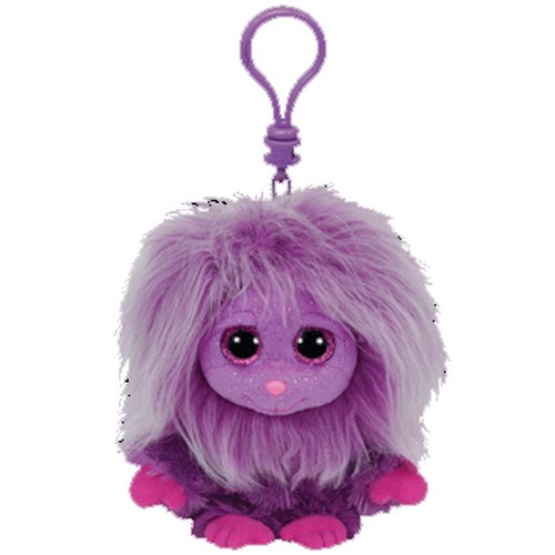 TY Frizzys - ZWIPPY the Purple Monster 4 inch Plastic Clip - 1
