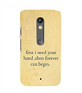 Fuson Premium Printed Hard Plastic Back Case Cover for Motorola Moto X Style