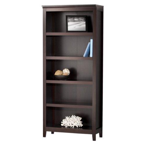 Threshold Carson 5 Shelf Bookcase, Espresso (Expresso Wood Bookshelves compare prices)