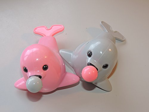 Seal with Ball Bathtub Toy - Pull the Ball and Watch It Move! (Color Varies) Set of 2