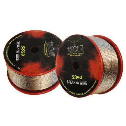 Absolute S850 50-Feet Spool Of 8 Gauge Speaker Wire