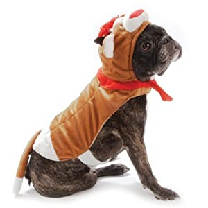 SOCK MONKEY DOG COSTUME Plush Dress Up Outfit Pet Halloween (XX Large)