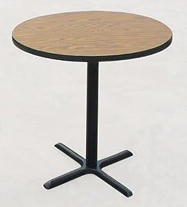 "42"" High Round Bar and Café Table Size: 42"" Round, Color: Medium Oak"