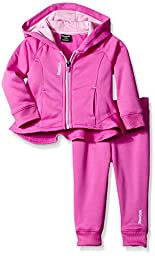 Reebok Baby-Girls Hi Lo Active Set, Electric Fuchsia, 18 Months/Infant