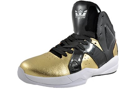 Supra Magazine sneaker - Black/Gold - White, (nero), 7 UK