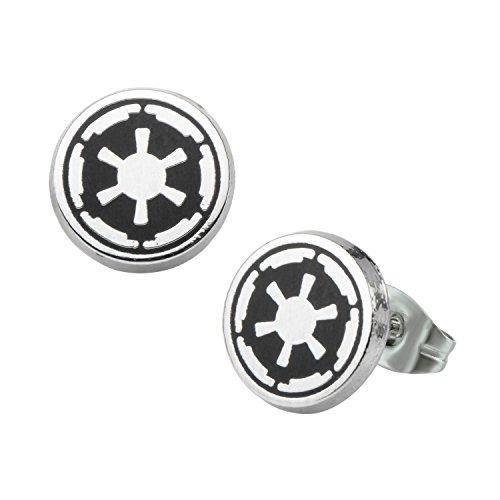 Star Wars Galactic Empire Symbol Enamel Stud Earrings