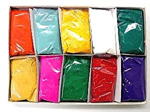 Festival Colors (Rangoli) Holi High Quality Colors (Pack of 10)