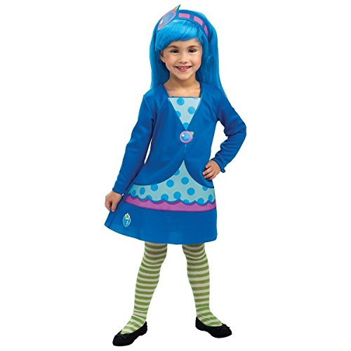 GSG Blueberry Muffin Costume Strawberry Shortcake Friend Kids Toddler Halloween (Girls Blueberry Muffin Wig)