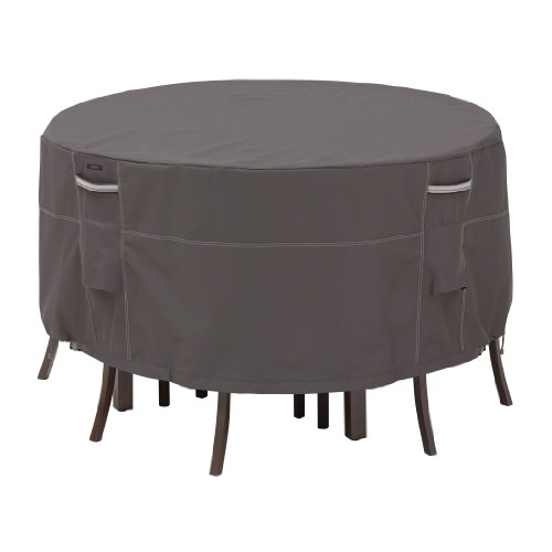 Classic Accessories 55-187-015101-EC Ravenna Patio Tall Table and Chair Cover, Taupe