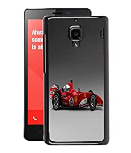 Fuson 2D Printed Racing Car Designer Back Case Cover for Xiaomi Redmi1S - D791