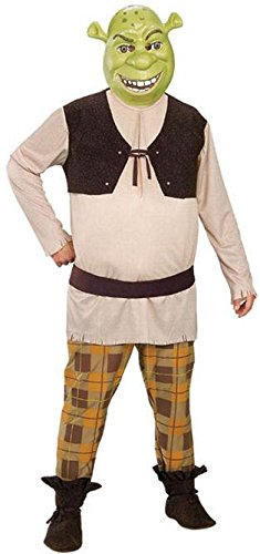 [Deluxe Shrek Costume - X-Large - Chest Size 44-46] (Deluxe Adult Shrek Costumes Mask)