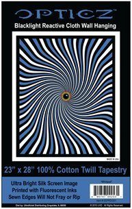 Opticz Whirlpool Blacklight Reactive Cloth Wall Hanging