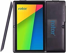 65% DE DESCUENTO - Quad Core - 8GB HD - rotor® - de 7 Pulgadas 1024x600 pantalla - 2015 MODELO - Android 4.4.2 KITKAT (Incluye android 5.0 LOLLIPOP actualización   de forma manual ) - Tablet PC - Miracast Activo (HDMI inalámbrico) - Protección de silicona - de doble cámara - Con cable HDMI (mediante adaptador externo) - WiFi - Soporta Google playstore Youtube, Netflix, Juegos 3D - Color Negro