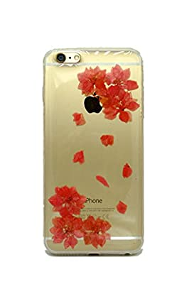 FS 0413 Phone Case, iPhone 6 Plus, iPhone 6S Plus Case TPU Handmade Floral Real Pressed Flowers Phone Case Cover, Personalized Dried Floral, 3D Stereoscopic Effect from FS 0413 Phone Case