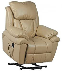 Luxor Dual Motor Leather Riser Recliner Chair Rise Recline Armchair C