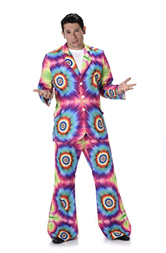 [Men's Tie Dye Suit - Halloween Costume (M)] (Tie Dye Dress Costume)