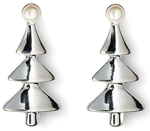 bnwt-womans-silver-plated-christmas-tree-earrings-with-faux-pearls