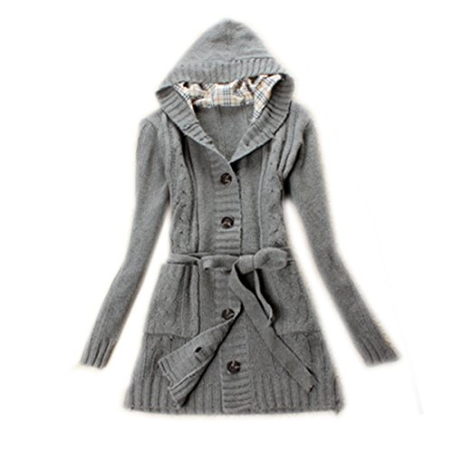 Zeagoo Women's Long Sleeve Hoodie Coat Cardigans trench Sweater