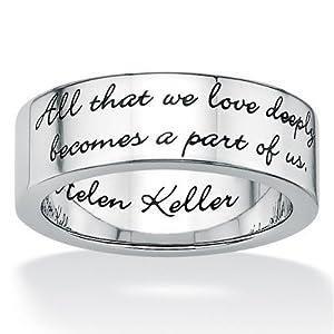 Stainless Steel Inspirational Helen Keller Band Size: 7