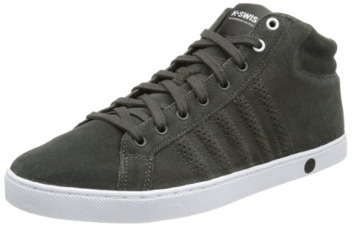 K-Swiss  Adcourt '72 MID SDE,  Sneaker a collo alto uomo, Grigio (Grau (Beluga/Brilliant Blue/White)), 44.5