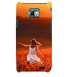 ColourCraft Beautiful Girl Back Case Cover for SAMSUNG GALAXY S2 I9100