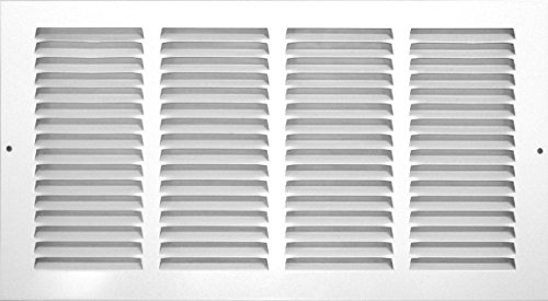 Accord ABRGWH166 Return Grille with 1/2-Inch Fin Louvered, 16-Inch x 6-Inch(Duct Opening Measurements), White (Accord Wall Register compare prices)