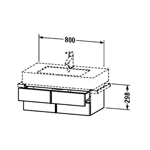 Duravit Waschtischunterschrank Vero 446x800x298mm fur 032985, nussbaum geburstet, VE621306969