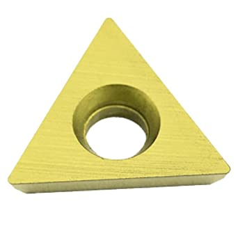 "Dorian Tool TDEX Multilayer Coated Carbide Dovetail Triangle Milling Indexable Insert, 0.0312"" Nose Radius, General Purpose Chip Breaker for Ferrous Metals, 3/8"" Insert, 1/8"" Thick (Pack of 10)"