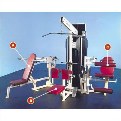 Quantum Fitness Multi Station Commercial 4 Stack Gym With
