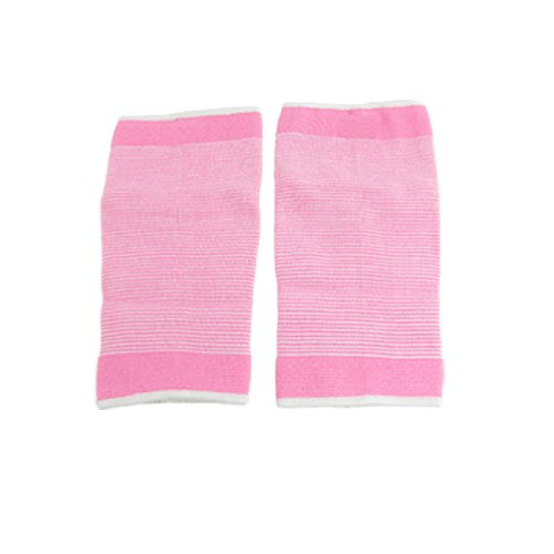 2 Pcs Pink White Striped Sleeve Calf Support Protector
