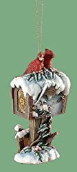 Snowfall Valley Cardinals on Snowy Mailbox Christmas Ornament 4.25""