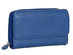 475/D159 Mundi Women\'s My Big Fat Wallet Organizer Clutch (BLUE)