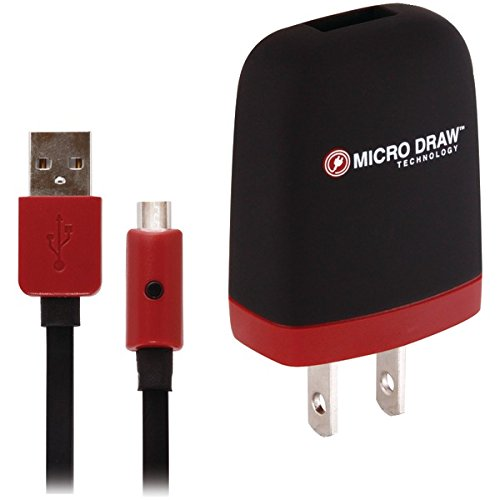 Xentris Micro USB Wall Charger - Black/Red - 1