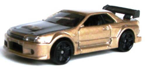Hot Wheels Nissan Skyline GT-R R32 Gold Die-cast Car (6.5cm)