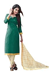 Bhagwati Women's Satin Unstitched Dress Material (summercoolGreen_Green_Freesize)