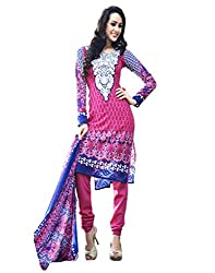 Inddus Womens Crepe Unstitched Dress Material (Ind-Kc-9001 _Pink)