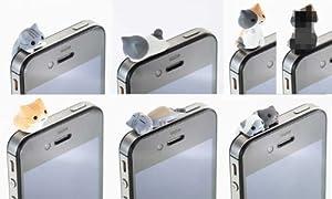 にゃんこ型 イヤホンジャックカバー通常6個+AKIBA-HOBBY特別版1個 7種セット / ピンクカンパニー