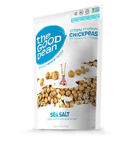 Gluten-Free, Nut-free Roasted Chickpea Snacks, single serve Sea Salt, 50 Count (Chick Peas Roasted compare prices)