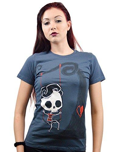 Akumu Ink -  T-shirt - Donna blu navy Large