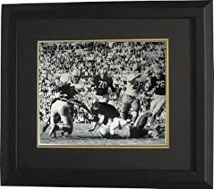 Jim Brown signed Syracuse Orange 16x20 Photo Custom Framed- Steiner Hologram