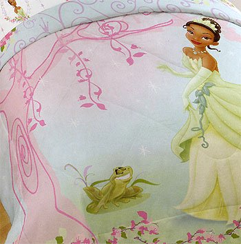 Disney Princess Frog Pink Tree Tiana Full-Double Comforter