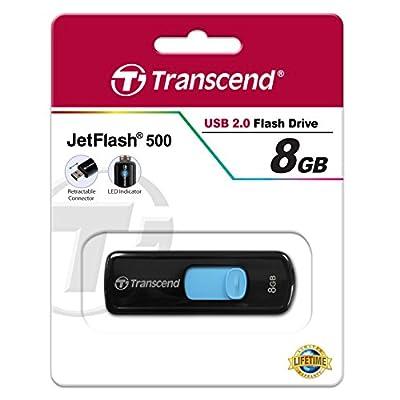 Transcend 8GB USB 2.0 Flash Drive (Black)