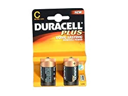 Duracell Plus MN1400 - Battery 2 x C type Alkaline by ""