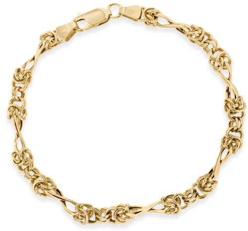 9ct Yellow Gold Twist Bracelet 18cm/7