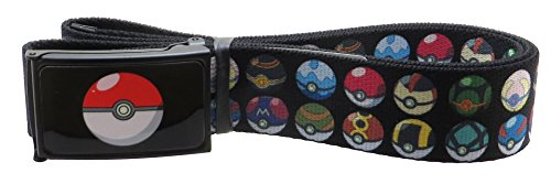 Pokemon Poke Ball Web Belt