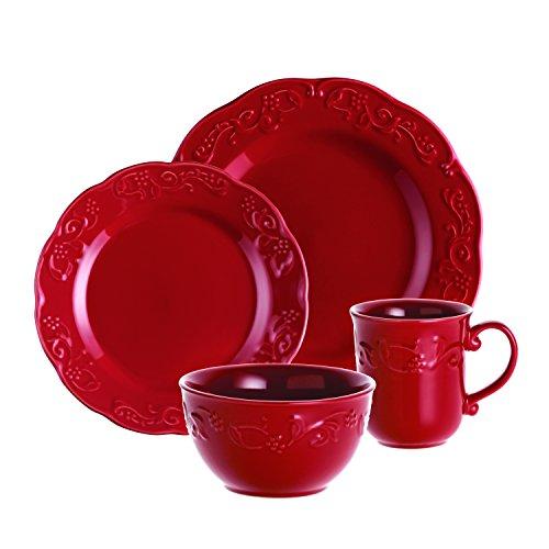 BonJour 16 Piece Spiceberry Stoneware Dinnerware Set