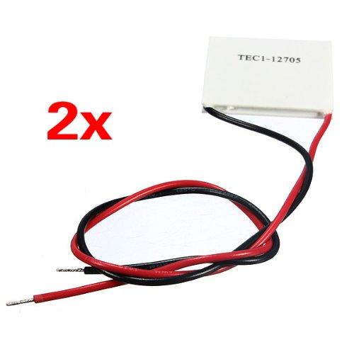 SODIAL(R) 2 pcs TEC1-12705 Module de Refroidissement Thermoelectrique de Refroidissement Assiette en Ceramique 50W 77Wmax